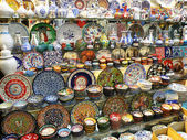 Traditional Turkish Plates and Vases — Stock Photo