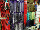 Semi-Precious Stone and Bead Jewelry Hanging for Sale — Stok fotoğraf