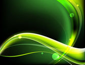 Abstract green and yellow waves — Stock Photo