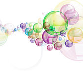 Colorful bubbles on white — Stock Photo