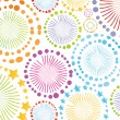 Colorful retro circle texture vector background — Stock Vector