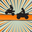 Royalty-Free Stock Vector Image: Quad bike silhouette vector background