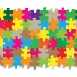 Colorful jigsaw puzzle vector background - Stock Vector