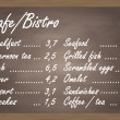 cafe or bistro food menu chalkboard background vector — Stock Vector