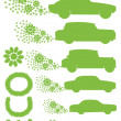Royalty-Free Stock Vector Image: Ecology electrical car vector background