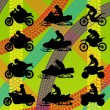 Royalty-Free Stock Vector Image: All terrain vehicle quad motorbikes riders illustration collecti