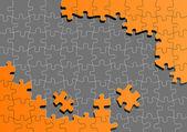 Portakal parçalı bulmaca vektör arka plan — Stok Vektör