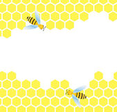 Honeycomb vector background — Stock vektor