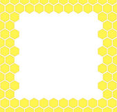 Honeycomb vector background — Vettoriale Stock