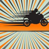 Yarış motosiklet patlama vektör arka plan — Stok Vektör