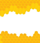 Honeycomb vector background — Stock Vector