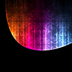 Neon abstract lines design on dark background vector — Stock Vector #8075448
