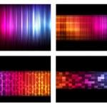 Neon abstract lines design on dark background vector — Stock Vector #8075450