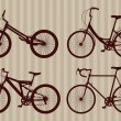 Bicycle illustration collection — Stok Vektör