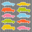 Royalty-Free Stock Vector Image: Colorful car transportation illustration collection background