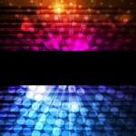 Neon abstract lines design on dark background vector — Stock Vector #8075896