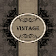 Vintage vector background for book cover or card — Stock Vector #8075907