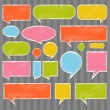 Royalty-Free Stock Vector Image: Colorful speech bubbles and balloons illustration vector