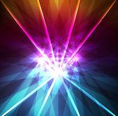 Neon abstract lines design on dark background vector — Stock Vector