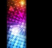 在黑暗的背景矢量霓虹灯抽象线条设计 — 图库矢量图片