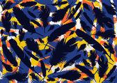 Bird feathers background illustration vector — Stock Vector