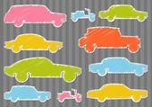 Fundo de coleção de ilustração de transporte carro colorido — Vetorial Stock