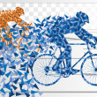 Royalty-Free Stock Vector Image: Sport road bike rider bicycle silhouette in urban city road background