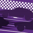 Royalty-Free Stock Vector Image: Sport cars in race track background illustration vector