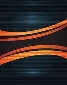 Neon abstract lines design on dark background vector — Vecteur