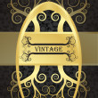 Royalty-Free Stock Vector Image: Golden vintage vector