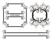 Vintage vector frame set — Stock Vector