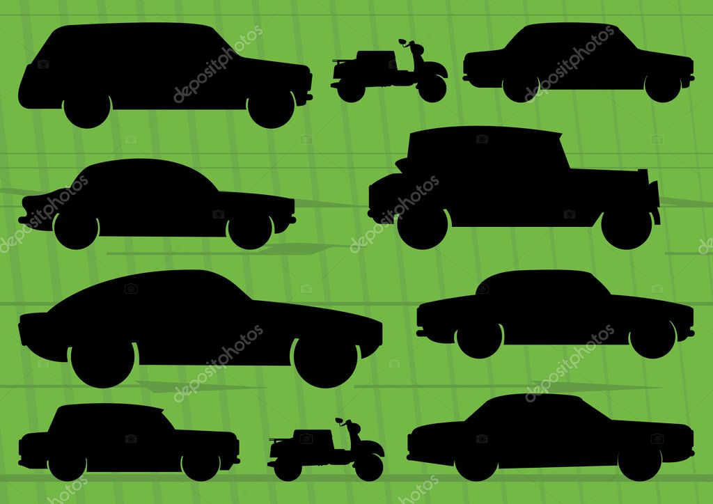 Sport cars in race track background illustration vector for poster — Stock Vector #8600031