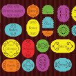 Royalty-Free Stock : Colorful organic farmers market food labels frames and elements illustratio