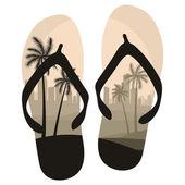 Scarpe di spiaggia isolate su bianco — Vettoriale Stock