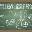 Chemistry blackboard vector background — Stock Vector