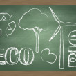 Royalty-Free Stock Vector Image: ECO and BIO concept blackboard education vector