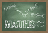 Maths blackboard vector background — Stock Vector