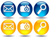 Search, picture, email icons — Vector de stock