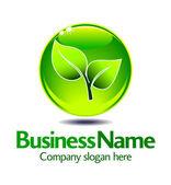 Green Leaf Logo — Stock Vector