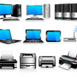 Stock Vector: Computers Printers Technology