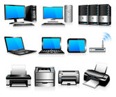 Computers Printers Technology — Stock Vector