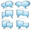 Stock Vector: Speech bubbles