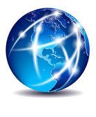 Communication World, Global Commerce - America - EPS 10 — Stock Vector