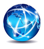 Communication World, Global Commerce - Europe, Middle East, Afri — Stock Vector