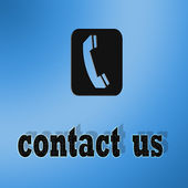 Bouton contact call — Stock Photo