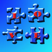 Puzzle Love — Stock Photo
