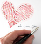 Heart i love you — Stock Photo