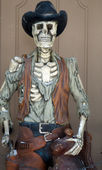 Cowboy skeleton — Stockfoto