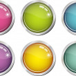Vecteur: Glassy color buttons