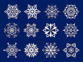 White snowflakes kirigami — Stock Photo